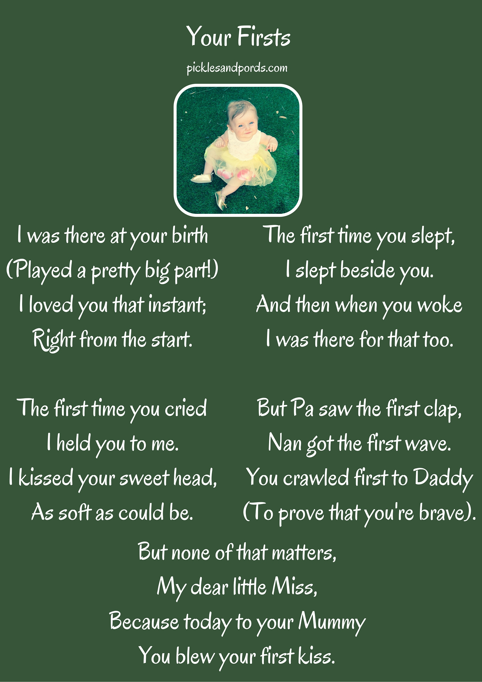 Your Firsts